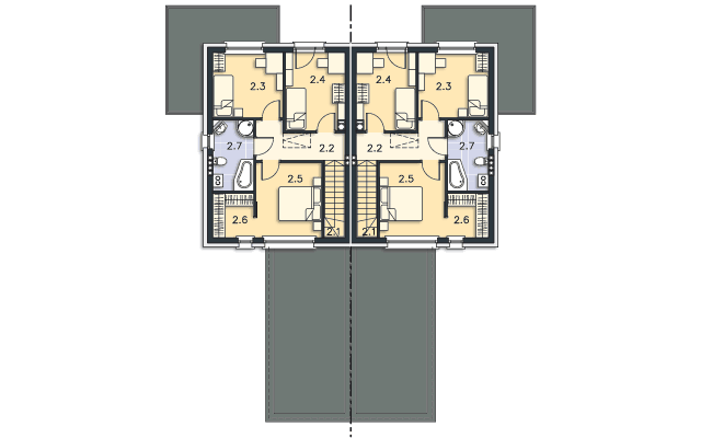 Rzut kondygnacji Piętro - projekt Norwich