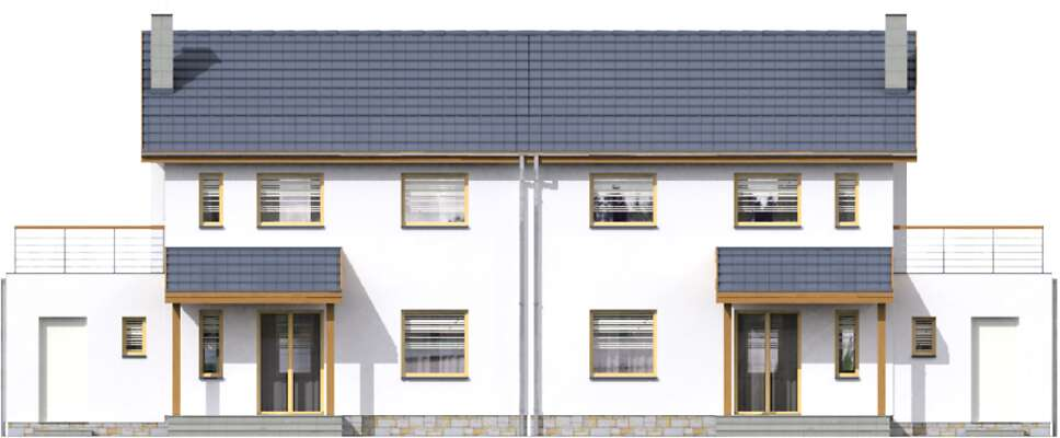 Elewacja ogrodowa - projekt Glasgow II