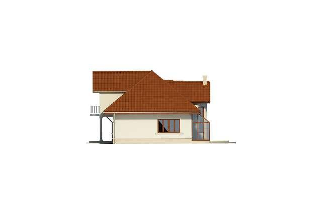 Zobacz powiększenie elewacji bocznej prawej - projekt Wersal