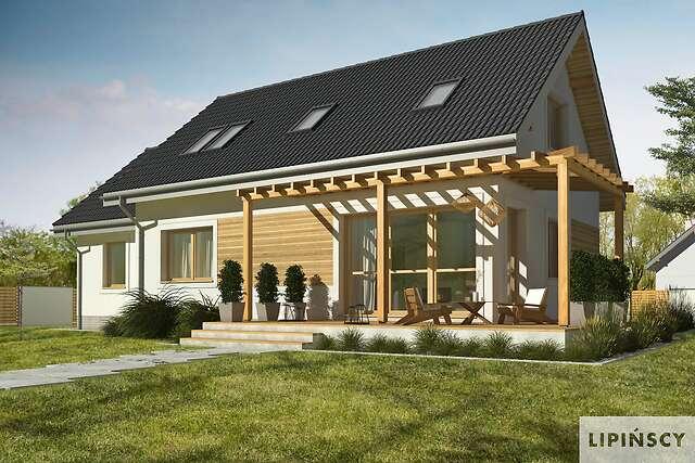 Zobacz powiększenie wizualizacji ogrodowej - projekt Vigo IV