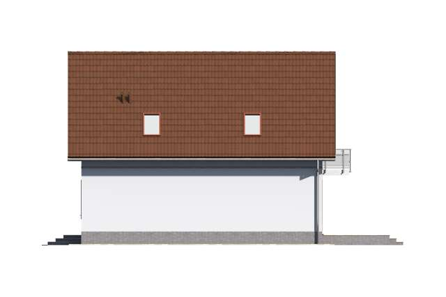 Zobacz powiększenie elewacji bocznej prawej - projekt Malmo II