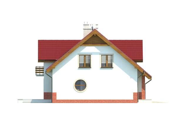 Zobacz powiększenie elewacji bocznej lewej - projekt Perugia