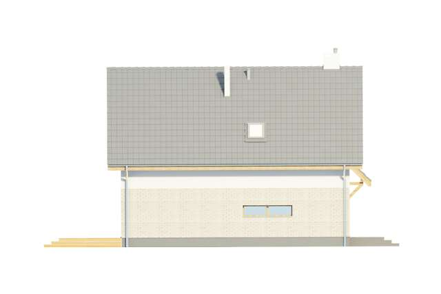 Zobacz powiększenie elewacji bocznej lewej - projekt Altea