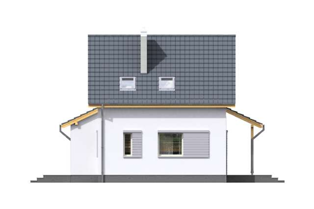 Zobacz powiększenie elewacji bocznej prawej - projekt Użyteczny