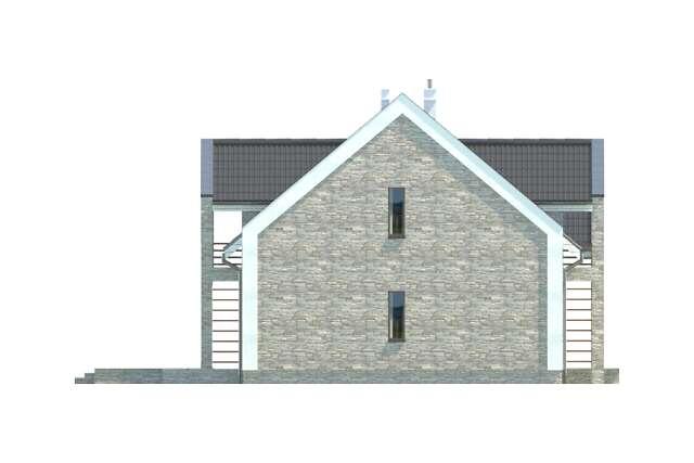 Zobacz powiększenie elewacji bocznej lewej - projekt Budynek agroturystyczny Brzoza 2