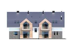 Elewacja ogrodowa - projekt Budynek agroturystyczny Dąb 3