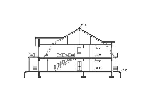 Zobacz powiększenie przekroju - projekt Budynek wypoczynkowy Ambrowiec