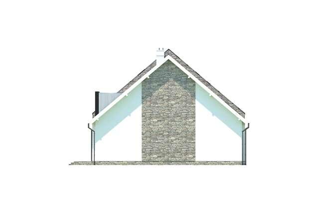 Zobacz powiększenie elewacji bocznej lewej - projekt Bellagio