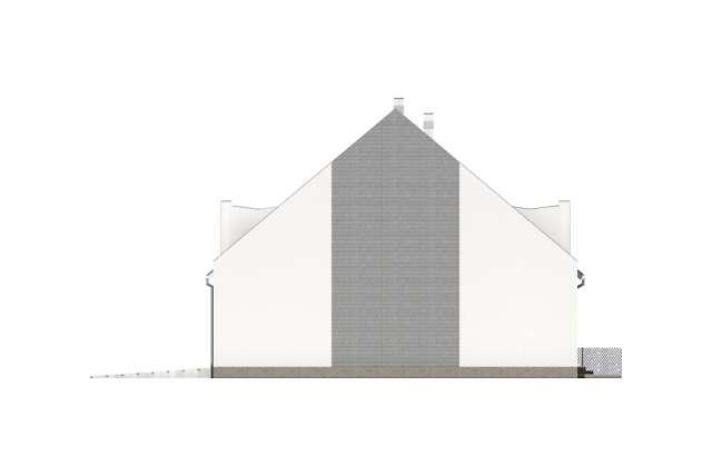 Zobacz powiększenie elewacji bocznej prawej - projekt Miltown