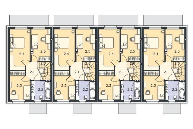 Zobacz powiększenie rzutu kondygnacji Piętro - projekt Manchester