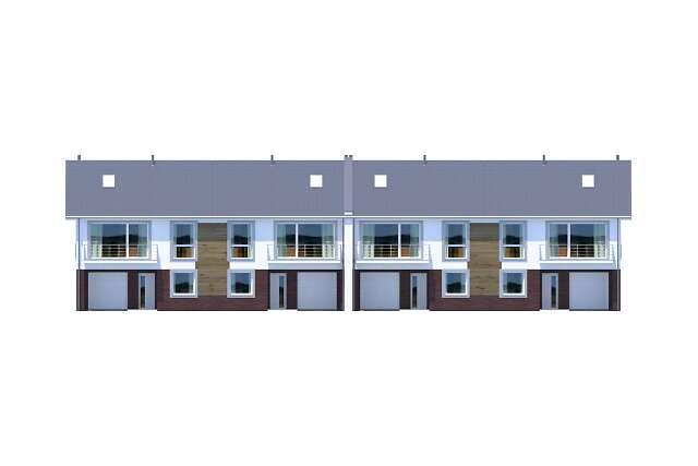 Zobacz powiększenie elewacji frontowej - projekt Liberec