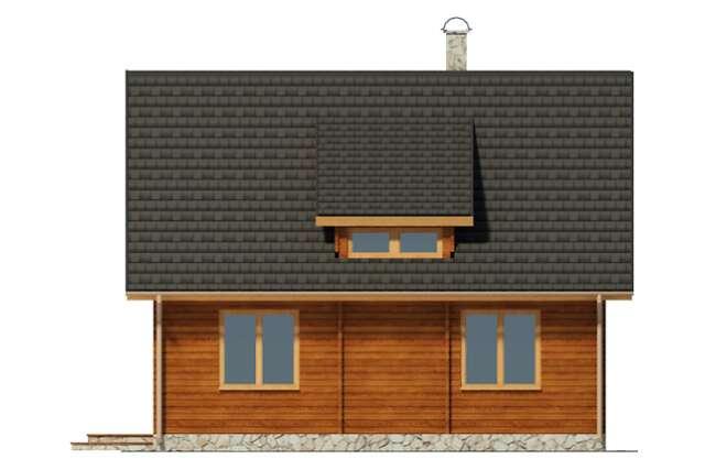 Zobacz powiększenie elewacji ogrodowej - projekt Oberstdorf
