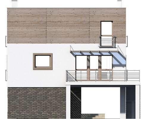Elewacja ogrodowa - projekt Santorini