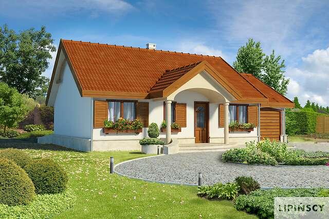 Zobacz powiększenie wizualizacji frontowej - projekt Sofia IV w.drewniana
