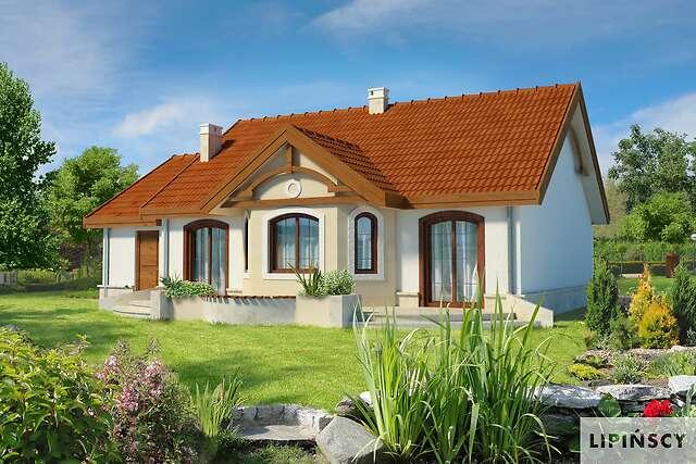 Zobacz powiększenie wizualizacji ogrodowej - projekt Sofia IV w.drewniana