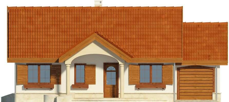 Elewacja frontowa - projekt Sofia IV w.drewniana