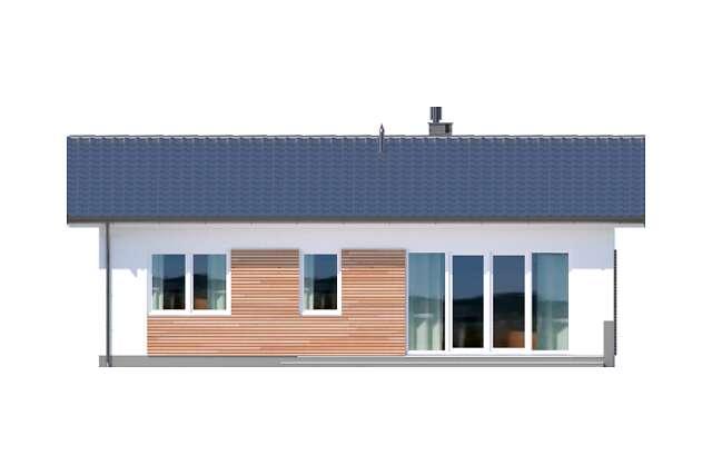 Zobacz powiększenie elewacji ogrodowej - projekt Oban w.drewniana